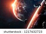 science fiction visualisation... | Shutterstock . vector #1217632723