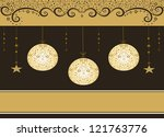 christmas background with balls.... | Shutterstock .eps vector #121763776