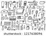 vector beauty items. set of... | Shutterstock .eps vector #1217638096