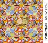 vector seamless pattern of... | Shutterstock .eps vector #1217641243