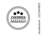 cherries premium quality emblem ...   Shutterstock .eps vector #1217643853