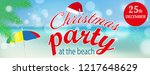 christmas party at the beach... | Shutterstock .eps vector #1217648629