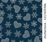 christmas seamless pattern.... | Shutterstock .eps vector #1217655586
