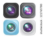 vector set of four camera icons | Shutterstock .eps vector #121765780