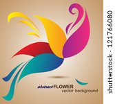 abstract flower background.... | Shutterstock .eps vector #121766080