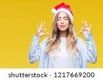 beautiful young blonde woman... | Shutterstock . vector #1217669200
