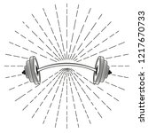 barbell sign in monochrome...   Shutterstock .eps vector #1217670733