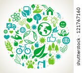 vector ecology concept   round... | Shutterstock .eps vector #121767160