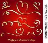 heart love card  valentine day  ... | Shutterstock .eps vector #121767256