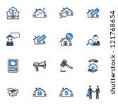 real estate icons   blue series | Shutterstock .eps vector #121768654