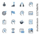 productive at work icons   blue ... | Shutterstock .eps vector #121768696