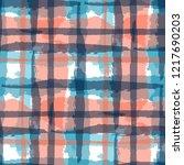 tartan. seamless grunge texture ... | Shutterstock .eps vector #1217690203