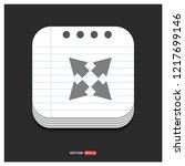 full screen icon   free vector...