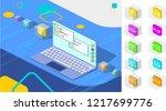web development isometric... | Shutterstock .eps vector #1217699776
