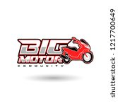 big motorcycle logo template | Shutterstock .eps vector #1217700649