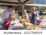 sutrio  italy  14th october...   Shutterstock . vector #1217704519
