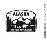 alaska badge design. mountain...   Shutterstock .eps vector #1217714479