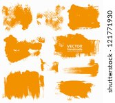 abstract orange vector set... | Shutterstock .eps vector #121771930