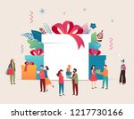 promo christmas  new year... | Shutterstock .eps vector #1217730166