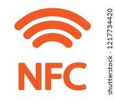 Nfc Icon Orange On A White...