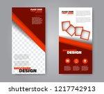 narrow flyer and leaflet design....   Shutterstock .eps vector #1217742913