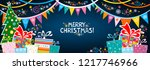 marry christmas  greeting card. ... | Shutterstock .eps vector #1217746966