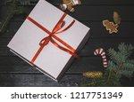 christmas background for... | Shutterstock . vector #1217751349