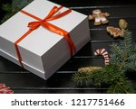 christmas background for... | Shutterstock . vector #1217751466
