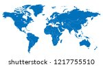 the world and tunisia map | Shutterstock .eps vector #1217755510