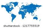 the world and lebanon map | Shutterstock .eps vector #1217755519