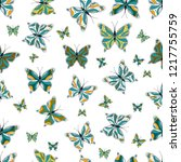 simple cute pattern for... | Shutterstock .eps vector #1217755759