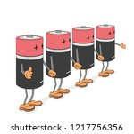 batteries in the form of little ...   Shutterstock .eps vector #1217756356