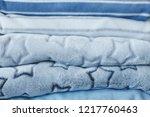 folded cozy fleece baby boy... | Shutterstock . vector #1217760463