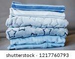 folded cozy fleece baby boy... | Shutterstock . vector #1217760793