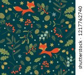 christmas seamless pattern with ... | Shutterstock .eps vector #1217762740