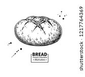bread drawing. bakery product... | Shutterstock . vector #1217764369