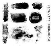 hand drawing textures of brush... | Shutterstock .eps vector #121776784
