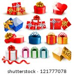 set of colorful gift boxes with ...   Shutterstock .eps vector #121777078