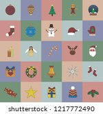 a christmas and holidays... | Shutterstock .eps vector #1217772490
