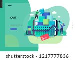 business series  color 3  cart  ... | Shutterstock .eps vector #1217777836