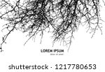 background bare tree branches.... | Shutterstock .eps vector #1217780653