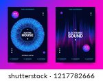 electronic sound flyer. music... | Shutterstock .eps vector #1217782666
