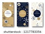 set of merry christmas and... | Shutterstock .eps vector #1217783356