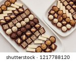 small chocolate and vanilla... | Shutterstock . vector #1217788120