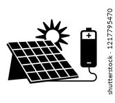 solar panel battery icon.... | Shutterstock .eps vector #1217795470
