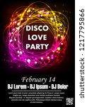 disco night party vector poster ... | Shutterstock .eps vector #1217795866