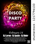 disco night party vector poster ... | Shutterstock .eps vector #1217796133
