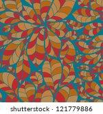 doodle chestnut leaves seamless ... | Shutterstock .eps vector #121779886