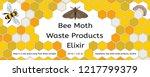 bee  wax moth  waxworm  bee comb | Shutterstock .eps vector #1217799379