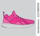 pink shoes sport design  vector ... | Shutterstock .eps vector #1217800540
